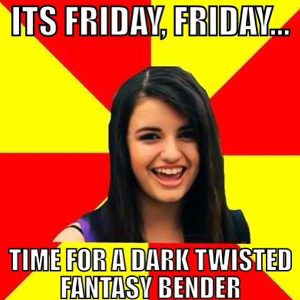 Friday time for a dark twisted fantasy bender