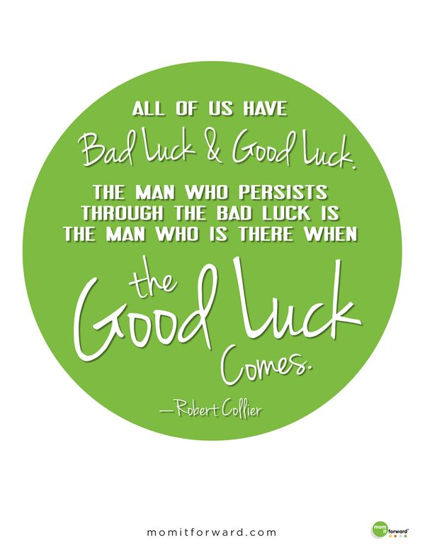 Good Luck Images with Positive Quotes