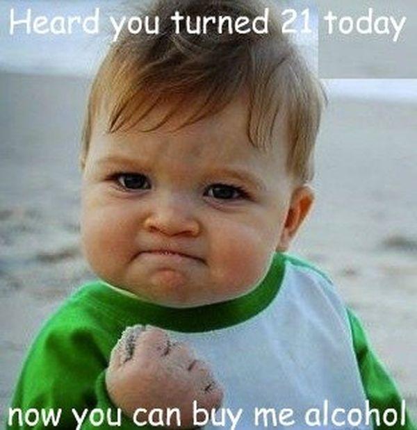 Nice Meme about 21st Birthday