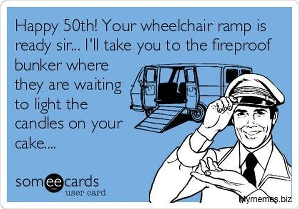 Awesome Happy 50th Birthday Meme With Wishes