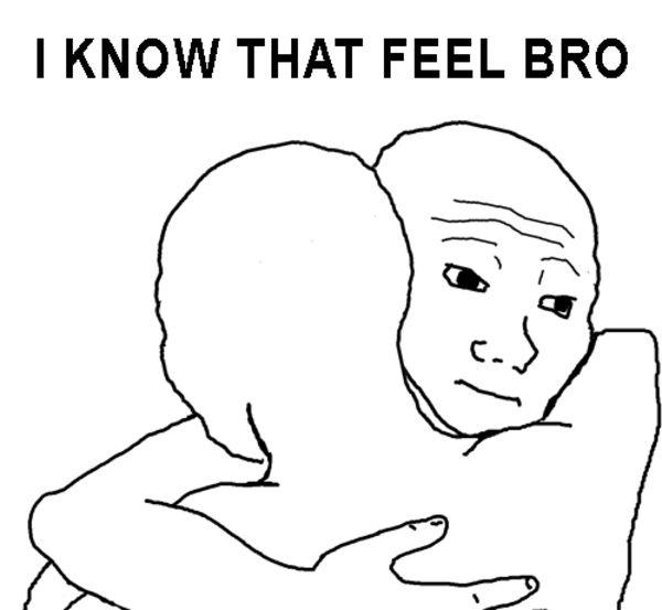 Startling hugging meme