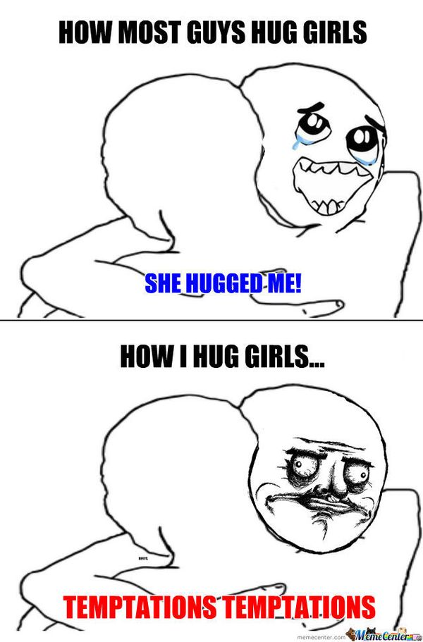 Showy hugging meme