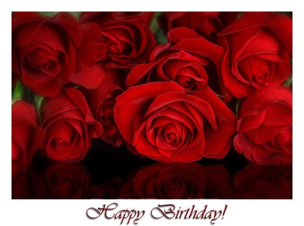 Festive Happy Birthday Flower Images for Her 3