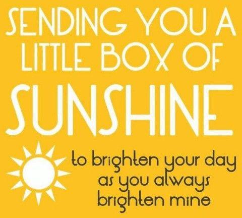 Sunshine good morning message