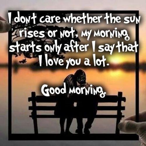 Good morning together