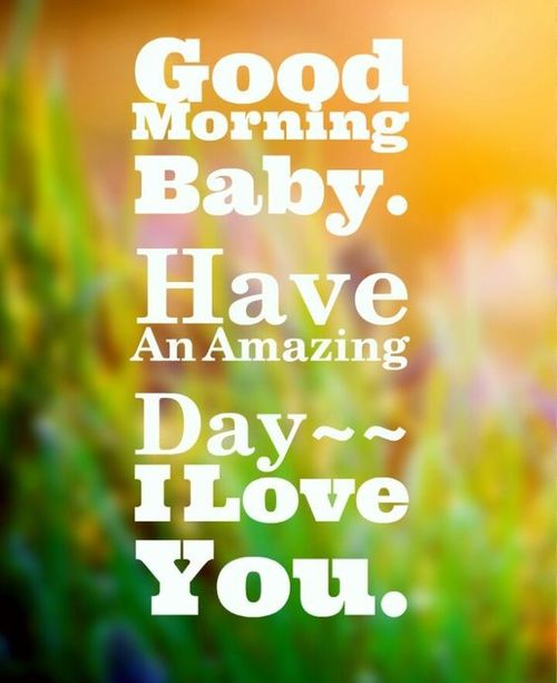 Perfect good morning card for beloved