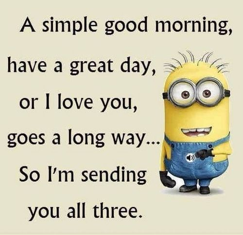 Pleasant good morning message