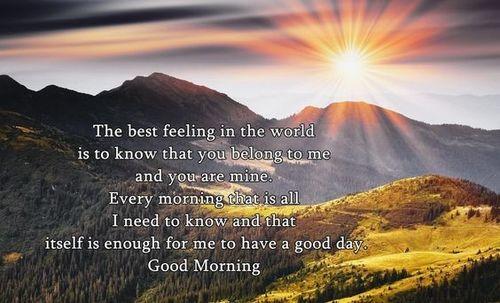 Superior good morning wish