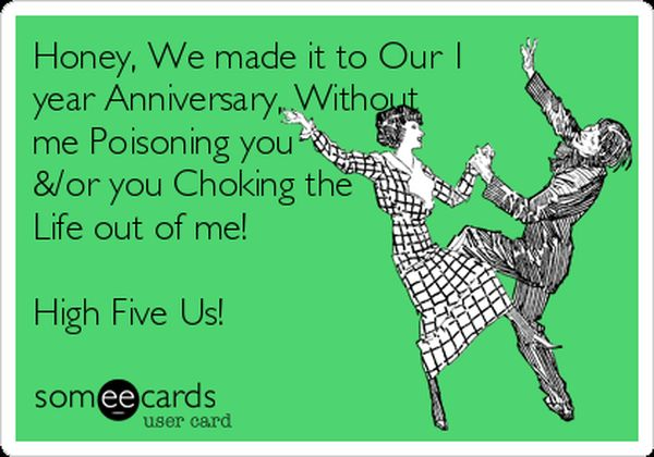 Year Anniversary Funny 1