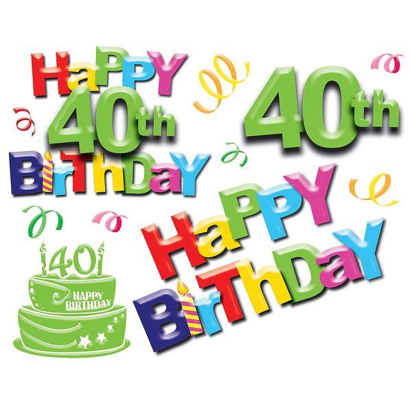 Stunning 40th Birthday Images Graphics Free