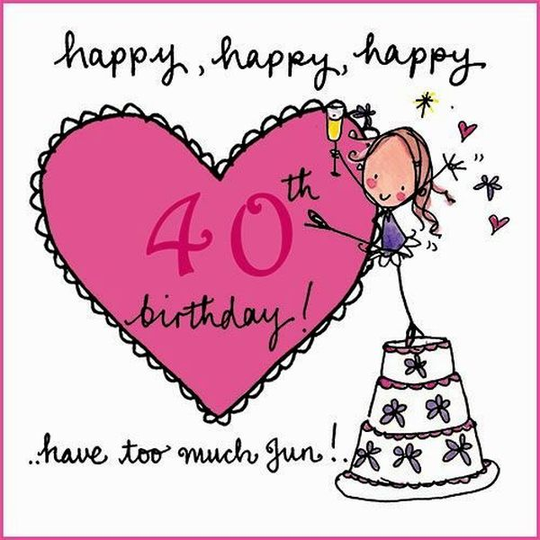 Funny 40th Birthday Images for Women