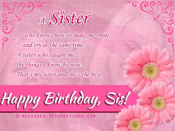 Perfect 40th Birthday Messages for Sister