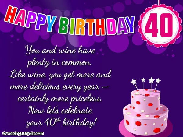 Cool 40th Birthday Messages for Sister