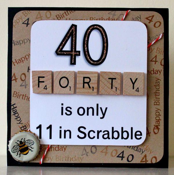 Cool Happy Big 40th Birthday Card