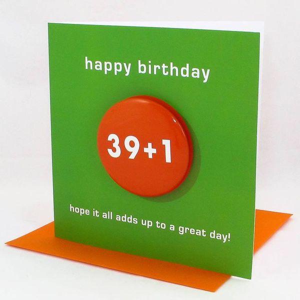 Showy Happy Big 40th Birthday Card
