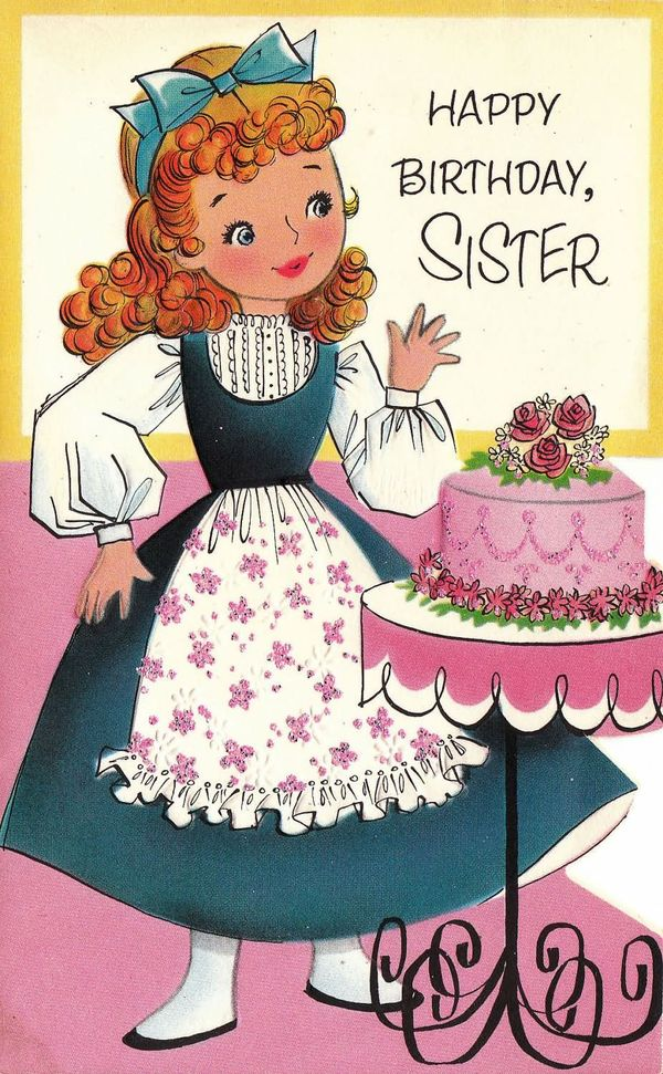 happy birthday sister in law cute images