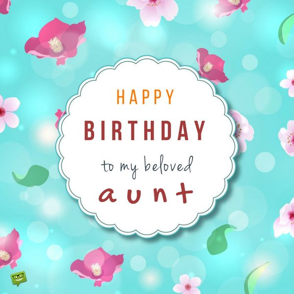 Birthday wish for aunt on cute floral background