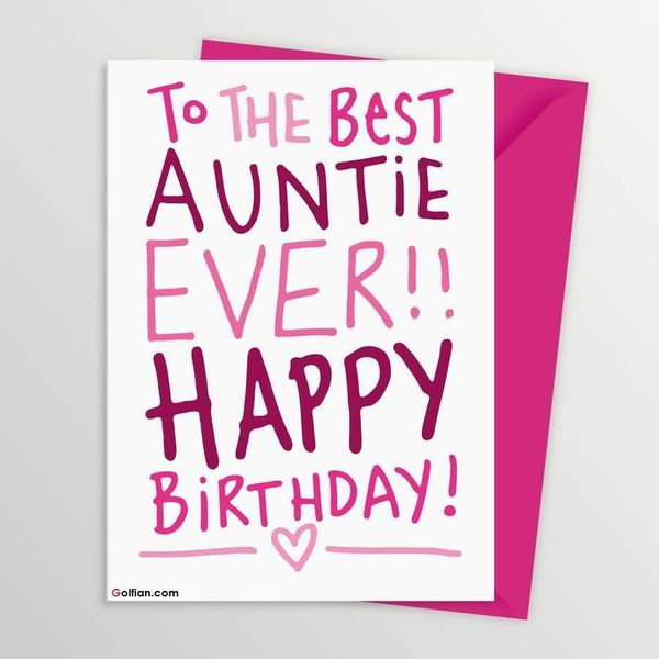 To The Best Auntie Ever Happy Birthday