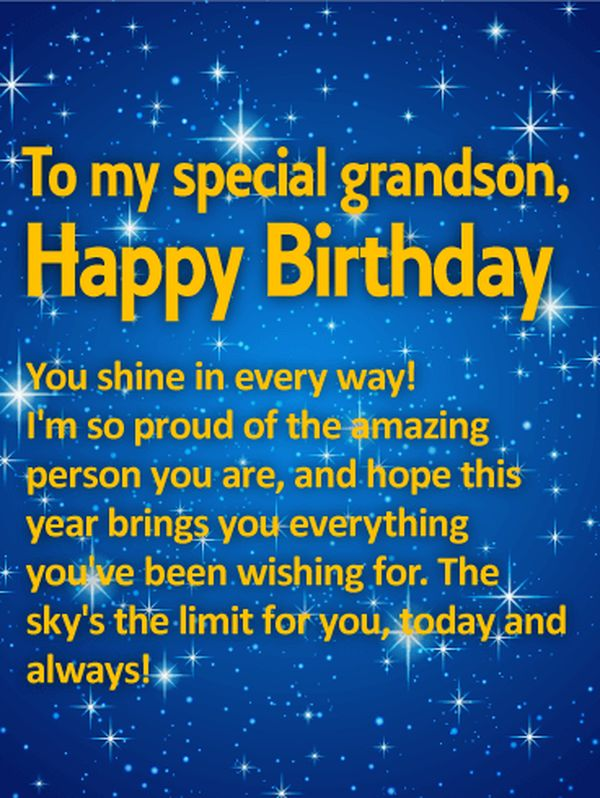 Awesome Happy Birthday Grandson Images 1