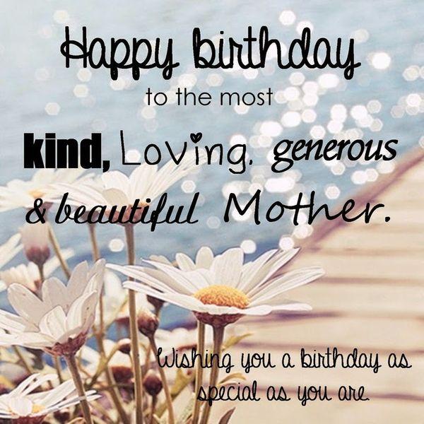 Lovely happy birthday mother