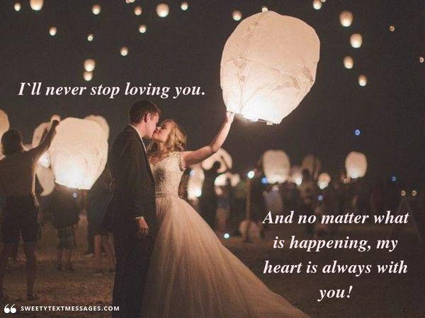 Romantic true love quote for her