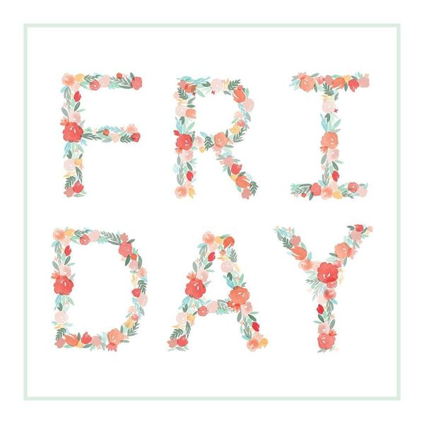 floral happy friday quotes