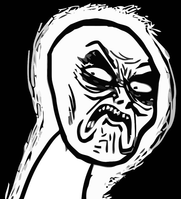 Stunning angry face meme
