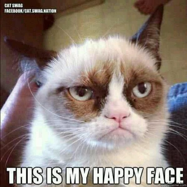 Good grumpy face meme