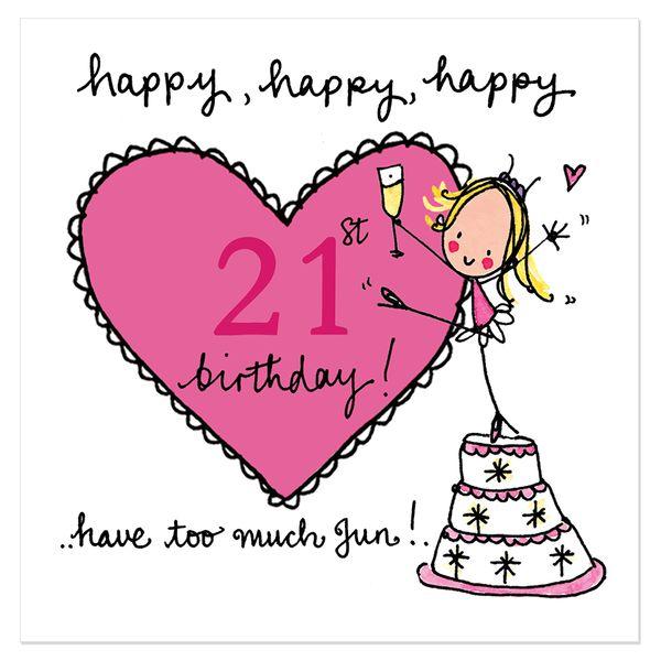 Happy 21st birthday cards