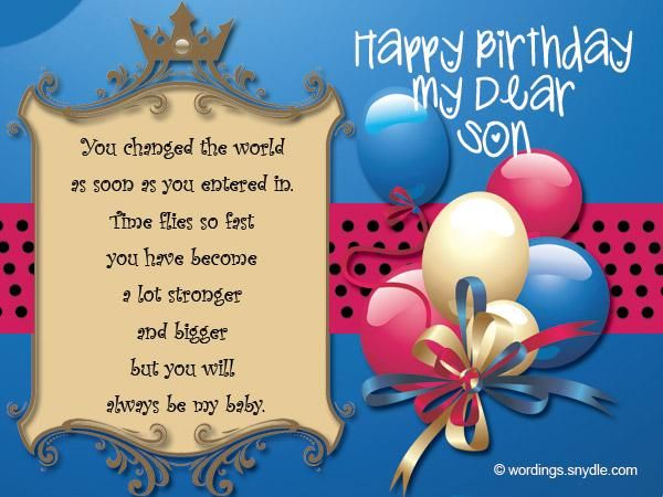 Cheerful Birthday Images for Son 4