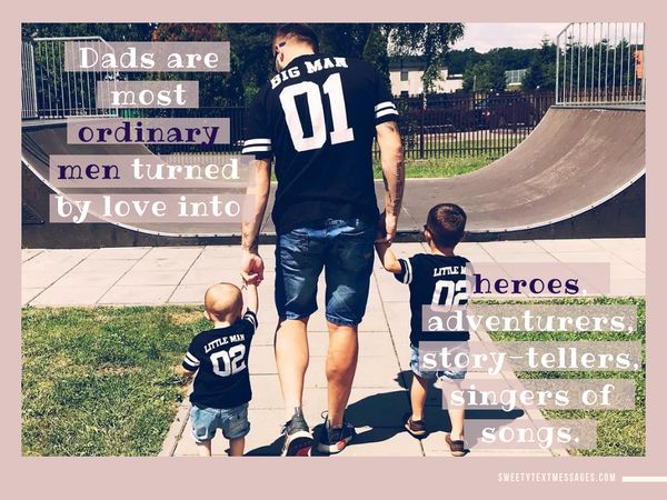 Sweet and cute quotes about daddy and his son
